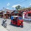Tuk-tuk in a street of Panajachel by lake Atitlan.
