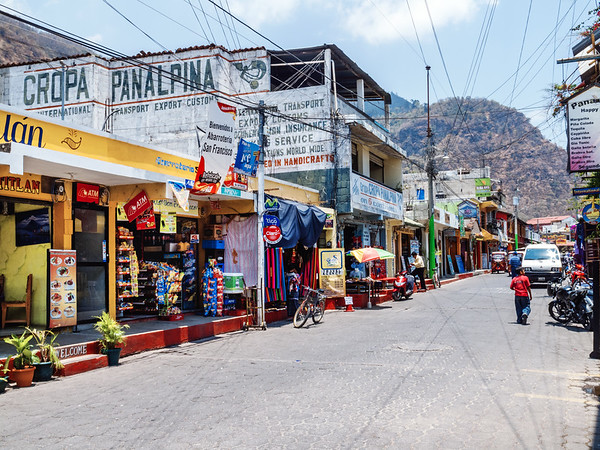A street in Panajachel by lake Atitlan