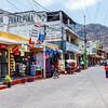 A street in Panajachel by lake Atitlan