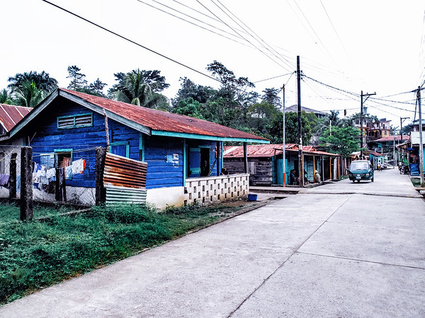 Street in the town of Livingston, Guatemala.