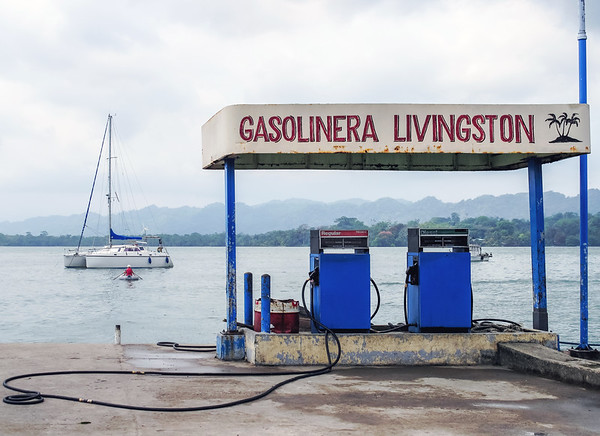 Gas station for boats in Livingston, Guatemala
