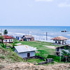 Houses of the Garifuna community in Livingston, Guatemala.