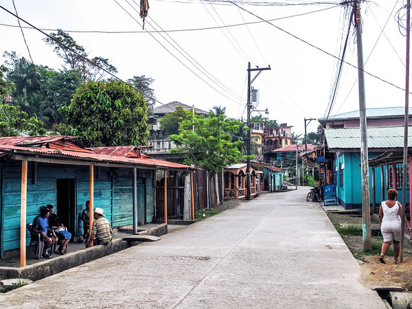 Street in Livingston, Guatemala