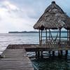 Hut by the sea at Casa Rosada in Livingston, Guatemala