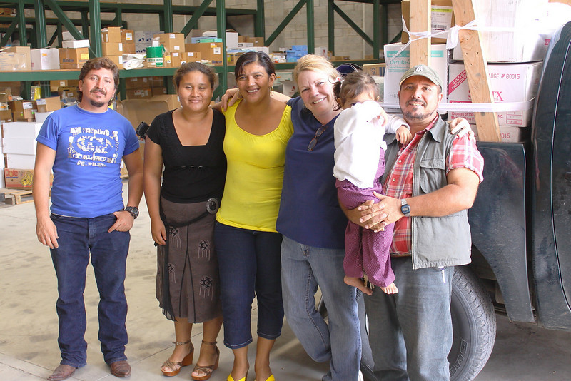 Cindy with the crew of My Sweet Refuge.  they drove over 6 hours to get here at 9:00 am and after loading were driving back to their home... it is  humbling to work with these brothers and sisters in Christ.