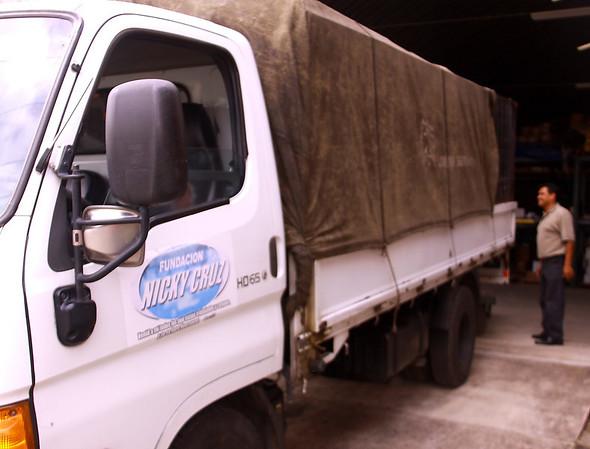 Nicky Cruz Foundation truck and logo.