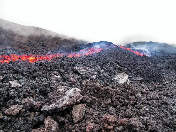 Lava on Pacaya Volcano, Guatemala