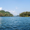 Entrance to the Rio Dulce River in Guatemala.