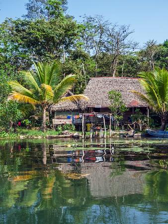House along the Rio Dulce River in Guatemala