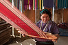 A local village lady weaving a blanket in Santa Catarina Palopo, Guatemala, Central America.