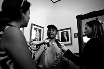 The national press covered the presentation of the community declarations.