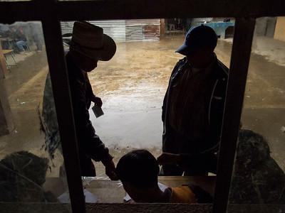 A community member votes in Buena Vista.