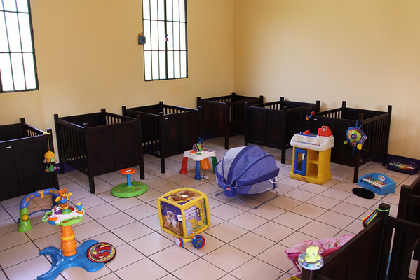 Nursery ready for first occupants.