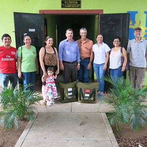 During prior visit the clinic, we delivered supplies from Denver