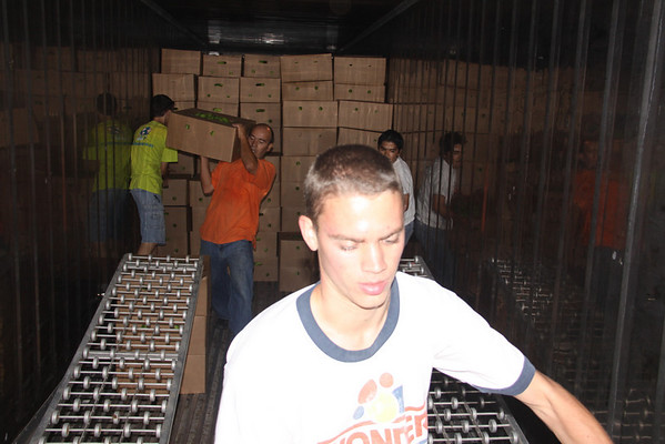 Speaking about blessings... Operation Blessing shares part of one warehouse with Orphan Resouce International and they stopped what they were doing to help the ORI team with the unload.