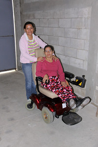 Vivian hugged me and wept when she saw the chair for her friend.  Patty wheels herself in a standard wheelchair in GUATEMALAN TRAFFIC 3 blocks in order to go to work as a secretary for the mayor of her town.