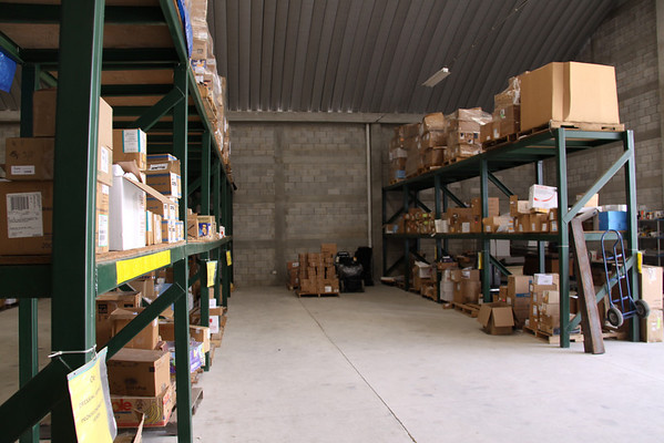 What the Bodega (Spanish for warehouse) looked like a few days before the containers came.