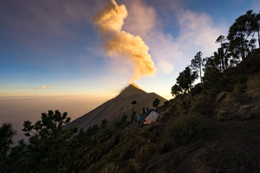 Plume of Ash Above Volcano Fuego