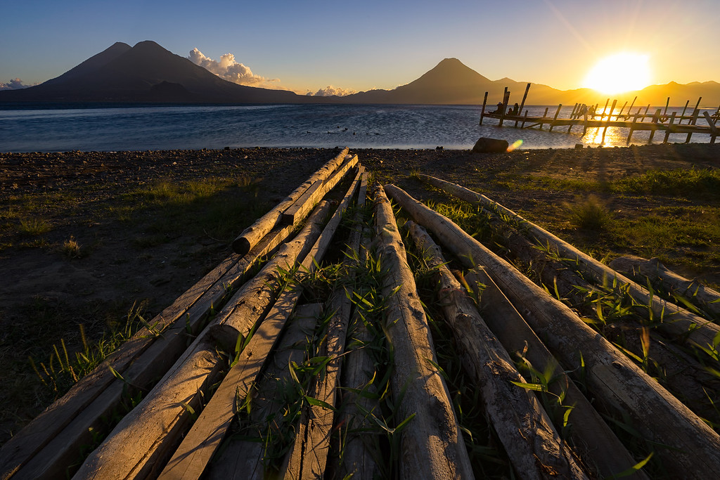 Volcanoes Overlooking Lake Atitlan