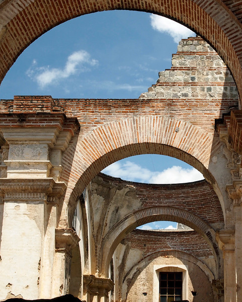 Ruined Catedral Santiago Antigua 1545 desroyed by earthquake 1773