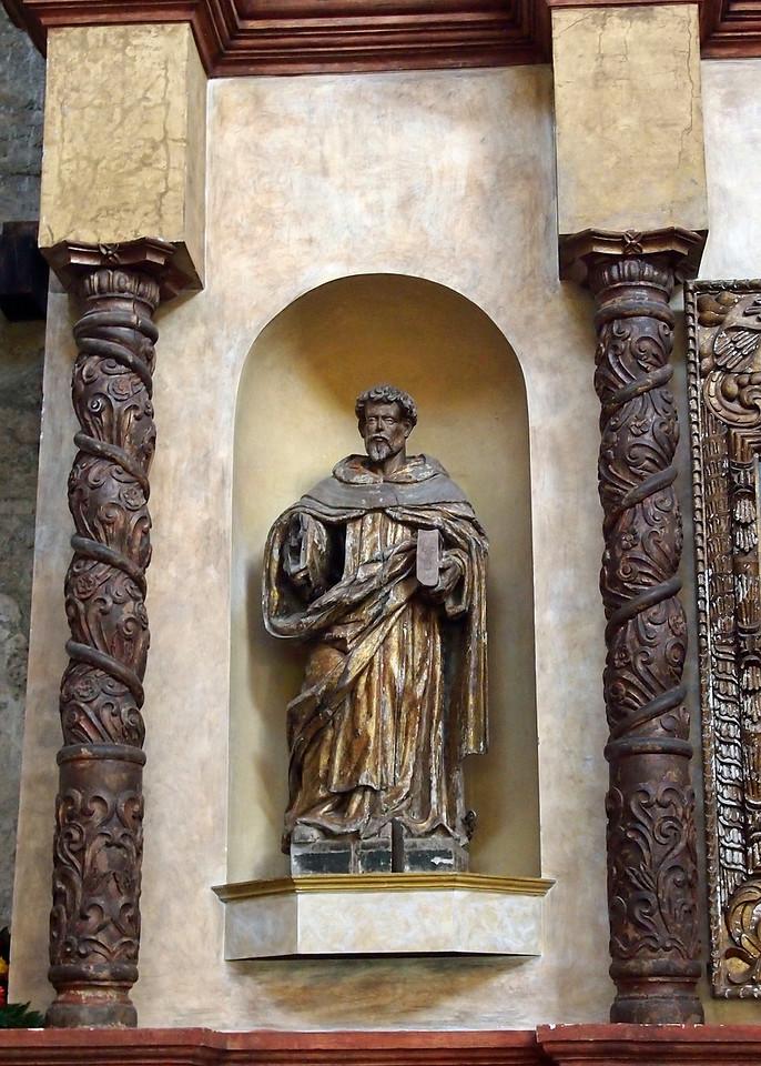 Santos in Altarpiece at Casa Santo Domingo