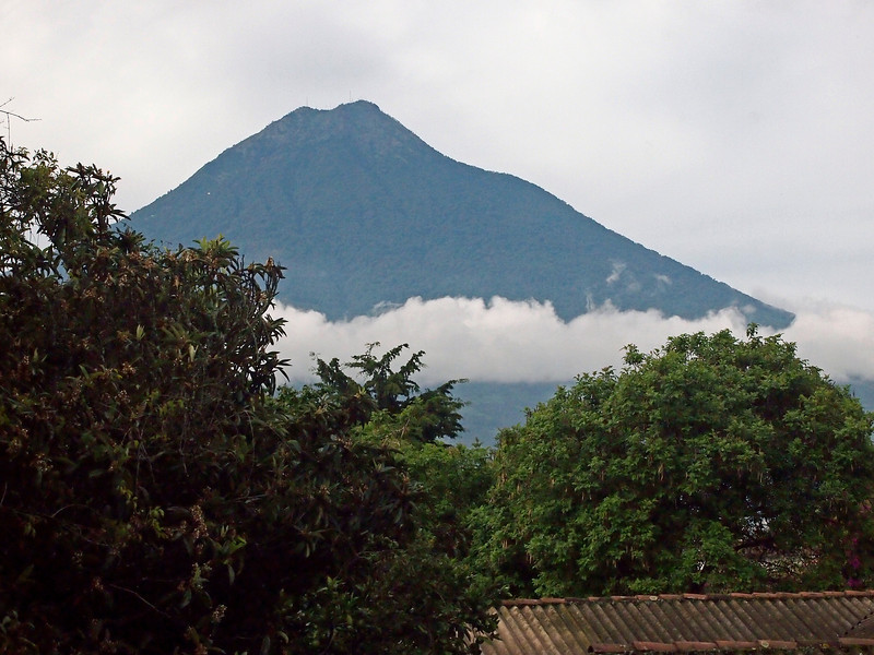 Volcano from Casa Santo Domingo