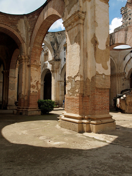 Ruined Cathedral Santiago Antigua 1545 desroyed by earthquake 1773