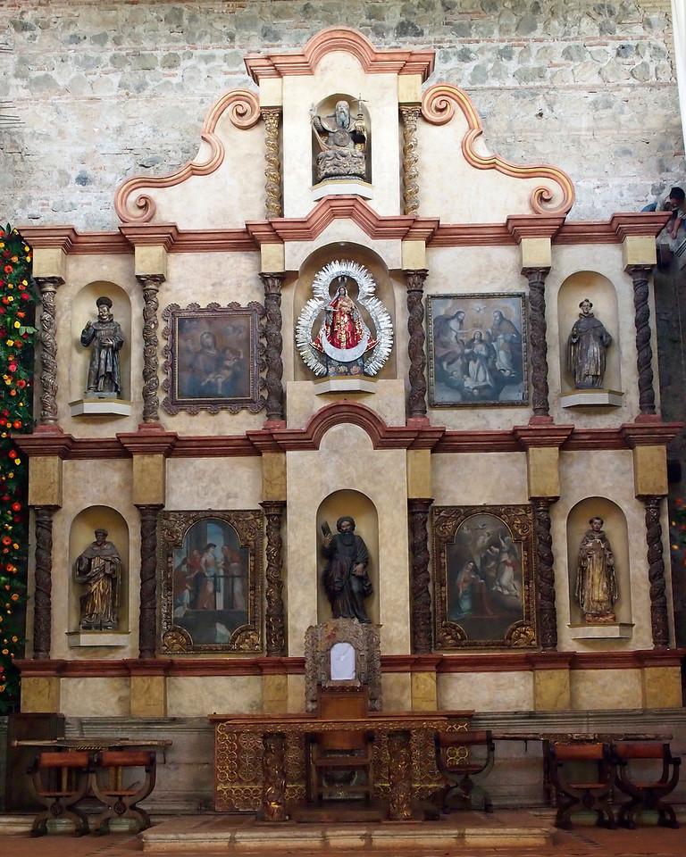 Altarpiece (retalbo type) at Chapel in Casa Santo Domingo, Antigua