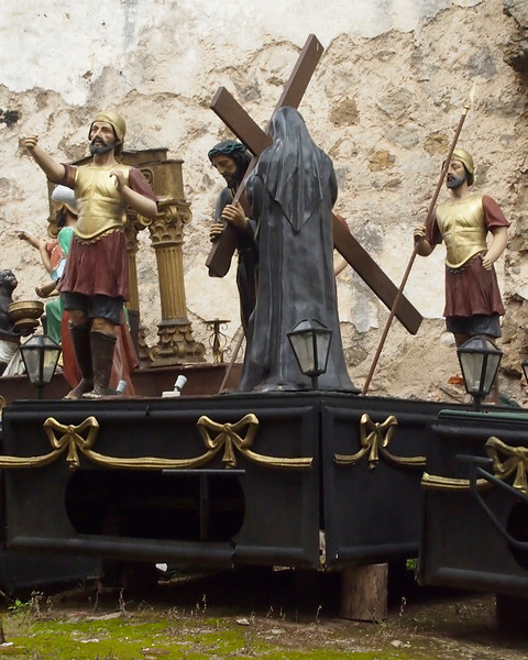 Procession Float from Antigua depicting the stations of the cross