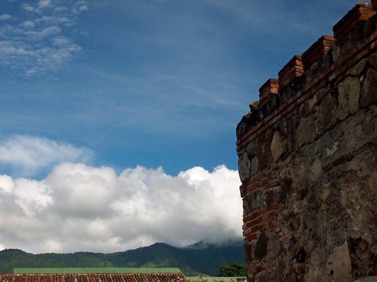 Hills surrounding Antigua from Casa Santo Domingo