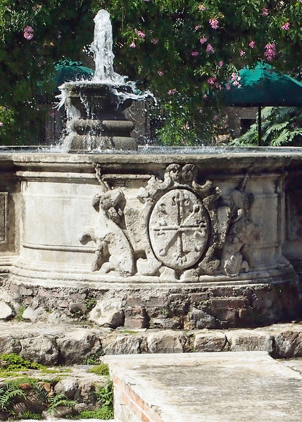Fountain in Casa Santo Domingo, Antigua