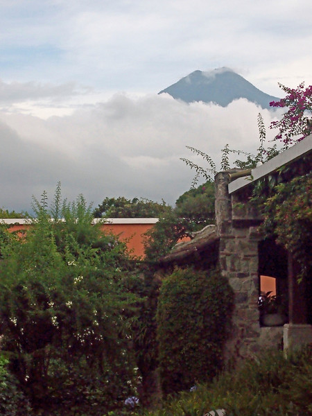 Volcano from Casa Santo Domingo