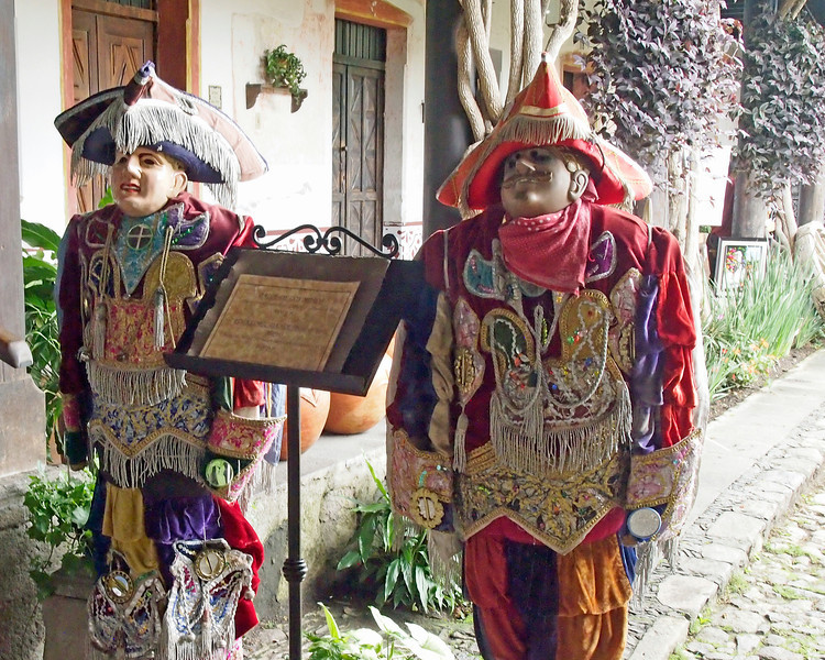 Costumes for Dance of the Christianos y Moro at Posada Don Rodrigo