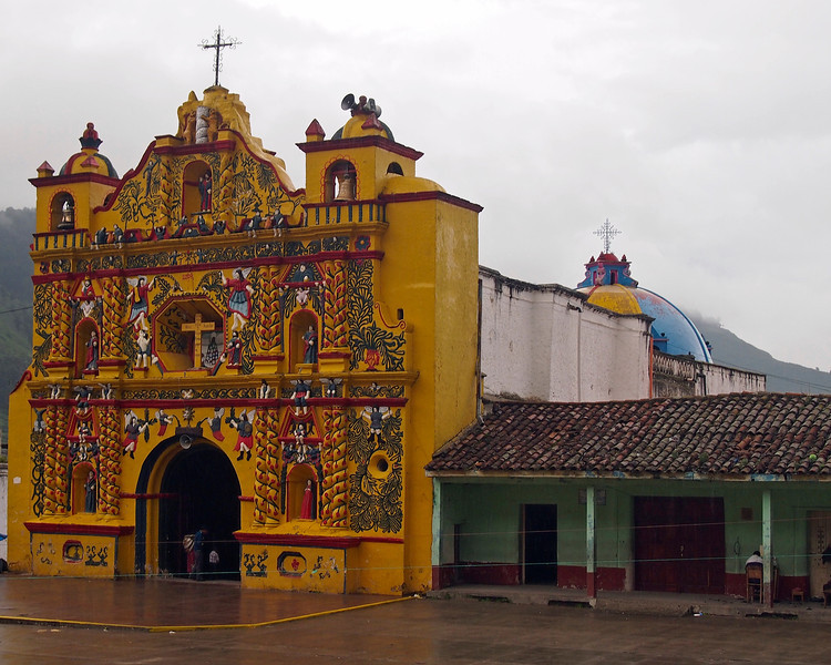 Church at San Andres Xecul west of San Cristobal - Totonicapan north of Quetzaltenango