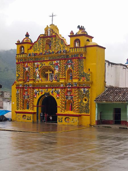 Church at San Andres Xecul west of San Cristobal - Totonicapan north of Quetzaltenango