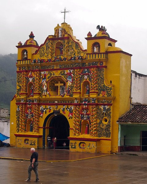 Church at San Andres Xecul - Totonicapan north of Quetzaltenango