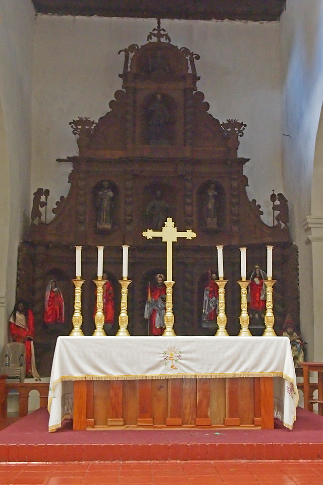 Altar of the Church in Santiago Atitlan