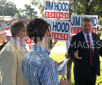 Jim Hood At Gubernatorial Announcement In Houston, MS