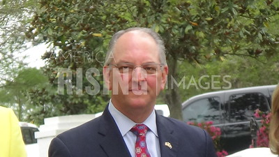 John Bel Edwards speaks at Lemonade Day