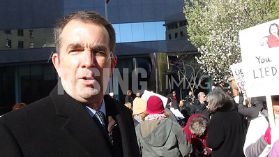 Ralph Northam At Civil Protest For Jeff Sessions' Resignation At SunTrust Building In Richmond, VA
