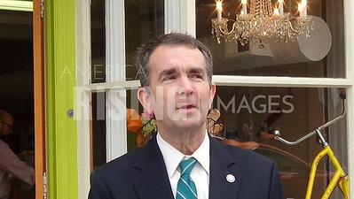 Ralph Northam At Campaign Stop At Jarratt House And Old Town Petersburg In Petersburg, VA