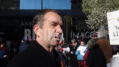 Ralph Northam At Civil Protest For Jeff Sessions' Resignation At SunTrust Building In Richmond, VA
