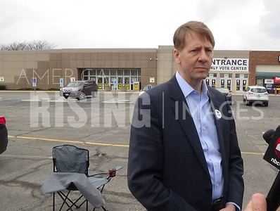 Richard Cordray At Franklin County Board Of Elections In Columbus, OH