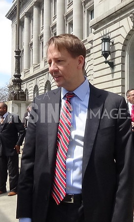 Richard Cordray At Campaign Annoucement In Cleveland, OH