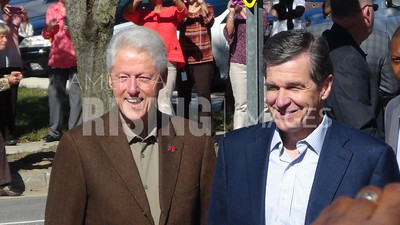 Roy Cooper At Hillary Clinton Campaign Rally With Bill Clinton In Rocky Mount, NC