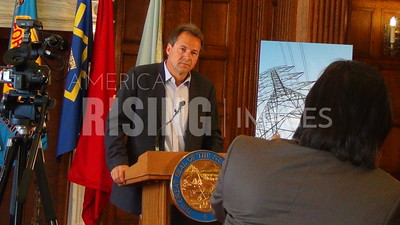 Steve Bullock At Energy Policy Announcement In Helena, MT