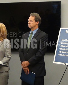Steve Bullock At Labor Day Report Event In Helena, MT
