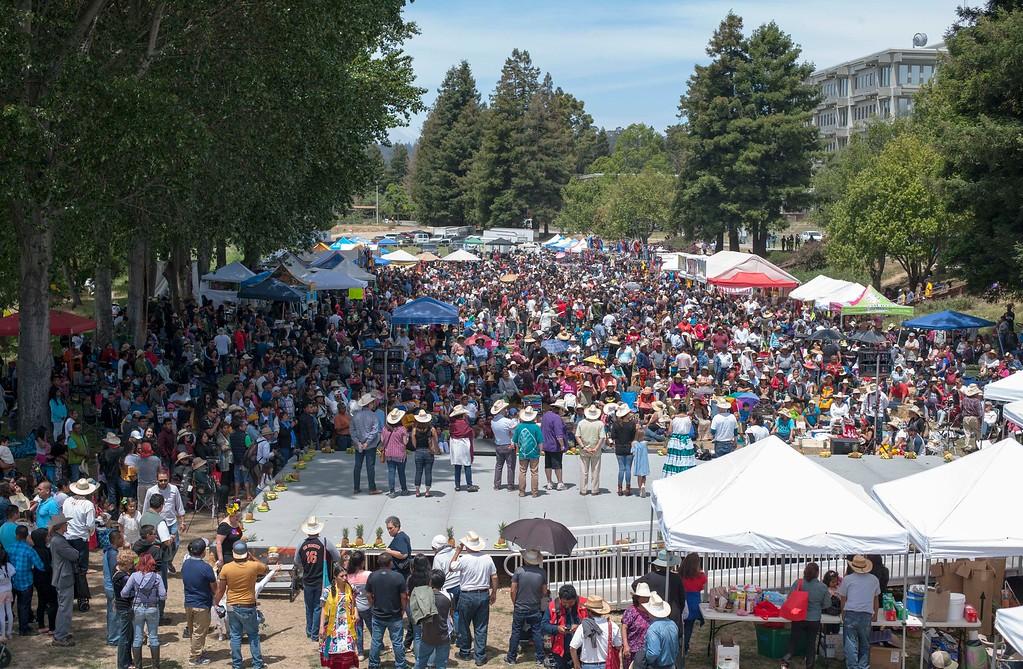 . Thousands attended the Guelaguetza celebration at San Lorenzo Park in Santa Cruz on Sunday, May 20, 2018. (Kara Meyberg Guzman -- Santa Cruz Sentinel)