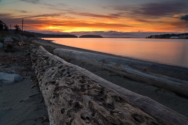 Sunrise on  Guemes Island, WA