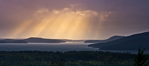 Light Rays on the San Juans, Guemes Island, WA